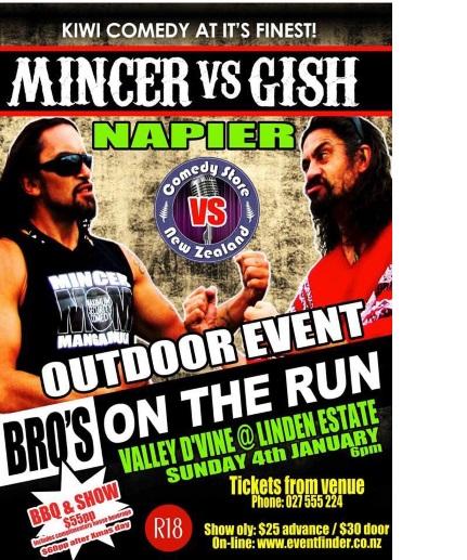 Mincer vs Gish Kiwi Comedy